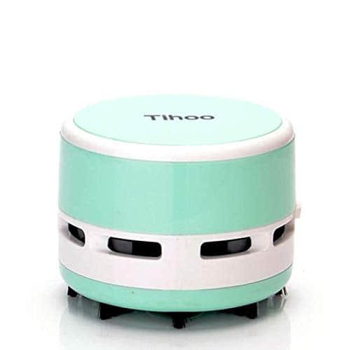 Marbeine Mini Aspirateur à Main Portable, Bureau Table Aspirateur, Collecteur de Poussière Balayeuse pour papier, la poussière Vert