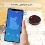 Aspirateur Robot, Tesvor aspirateur sans fil programmable App contrôle avec carte en temps réel Auto-recharge pour sols durs et les poils d'animaux Compatible avec Alexa/Google Home
