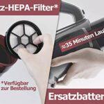 Aspirateur balai sans fil ROOMIE TEC avec batterie unique, filtre HEPA pour poils d'animaux, 2 en 1 avec aspiration puissante, faible portée et phares LED.