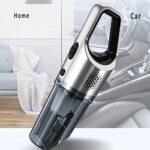 YIBOKANG Aspirateur de poche sans fil, 5500Pa 65W Puissant aspirateur de poche, aspirateur de voiture rechargeable, aspirateur sans fil rechargeable pour la maison, bureau, voiture