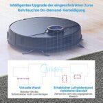 Midea Robot aspirateur avec fonction de nettoyage – 4000 Pa – Forte puissance d'aspiration – Google Home, Alexa et application – Robot sans fil pour poils d'animaux, tapis