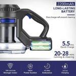 MooSoo Aspirateur sans Fil, 4 en 1 Puissant Aspirateur Balai sans Sac 12000pa avec Batterie Amovible,Silencieux,1.3L Grande Poubelle, X6
