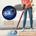 Aspirateur sans Fil Aspirateur à Main avec éclairage LED 70dB Silencieux Puissant Dispositif d'aspiration pour Nettoyer Le Sol etc