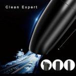 Aspirateur sans fil portatif Usb Rechargeable Filtre lavable à l'eau Effaceur de cheveux pour animaux de compagnie Aspirateur à main pour le nettoyage de voiture à domicile – Noir 33X8X8Cm
