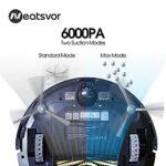 Neatsvor X520-3 en 1 Robot Aspirateur et Balai de Sols, 6000 Pa, Carte de Navigation Intelligente et Applications, Barrer, Aspirer, Perceuses, Animaux Spéciaux, pour sols durs et tapis