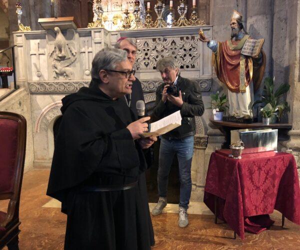 Discorso del Priore di San Pietro in ciel d'oro, padre Antonio Baldoni O.S.A.