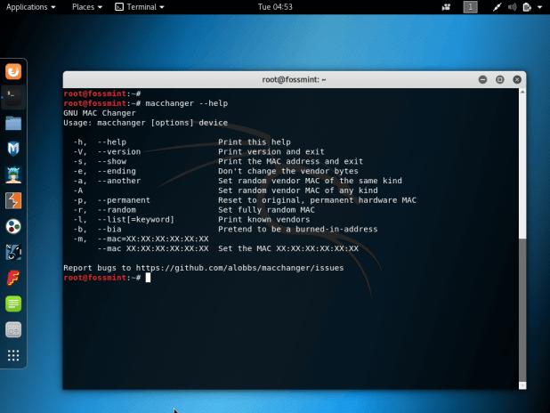 GNU MAC Changer