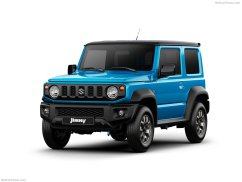 Suzuki Jimny 2019 bleu roi face avant