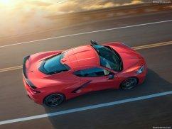 Chevrolet Corvette 2020 vue du dessus