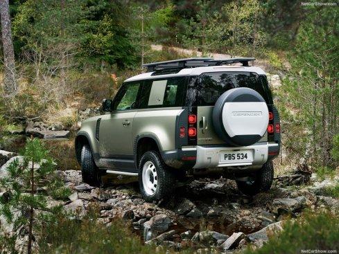 Galerie Land Rover Defender 2020 version 90 3/4 arrière