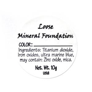 Loose Mineral Foundation Ingredient Label