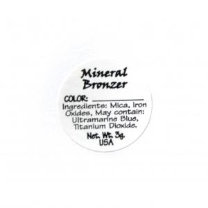 Bronzer Ingredient Label
