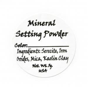 Setting Powder Ingredient Label