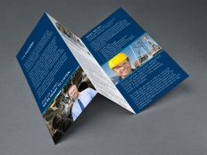 A simple trifold designed for Rioux Capital.