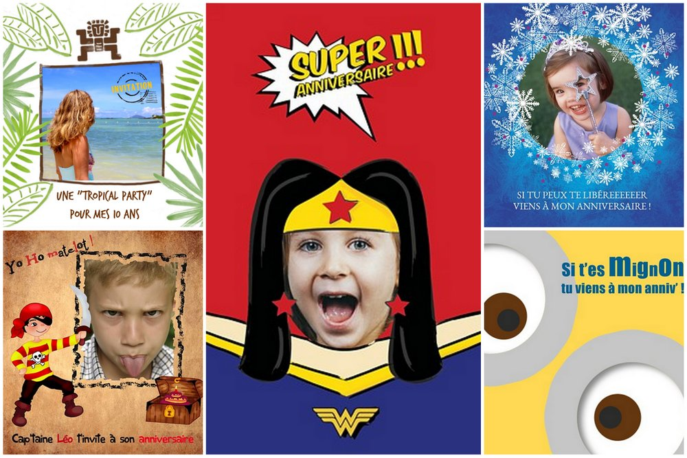 Passer pour une super maman avec les invitations d'anniversaire Popcarte !