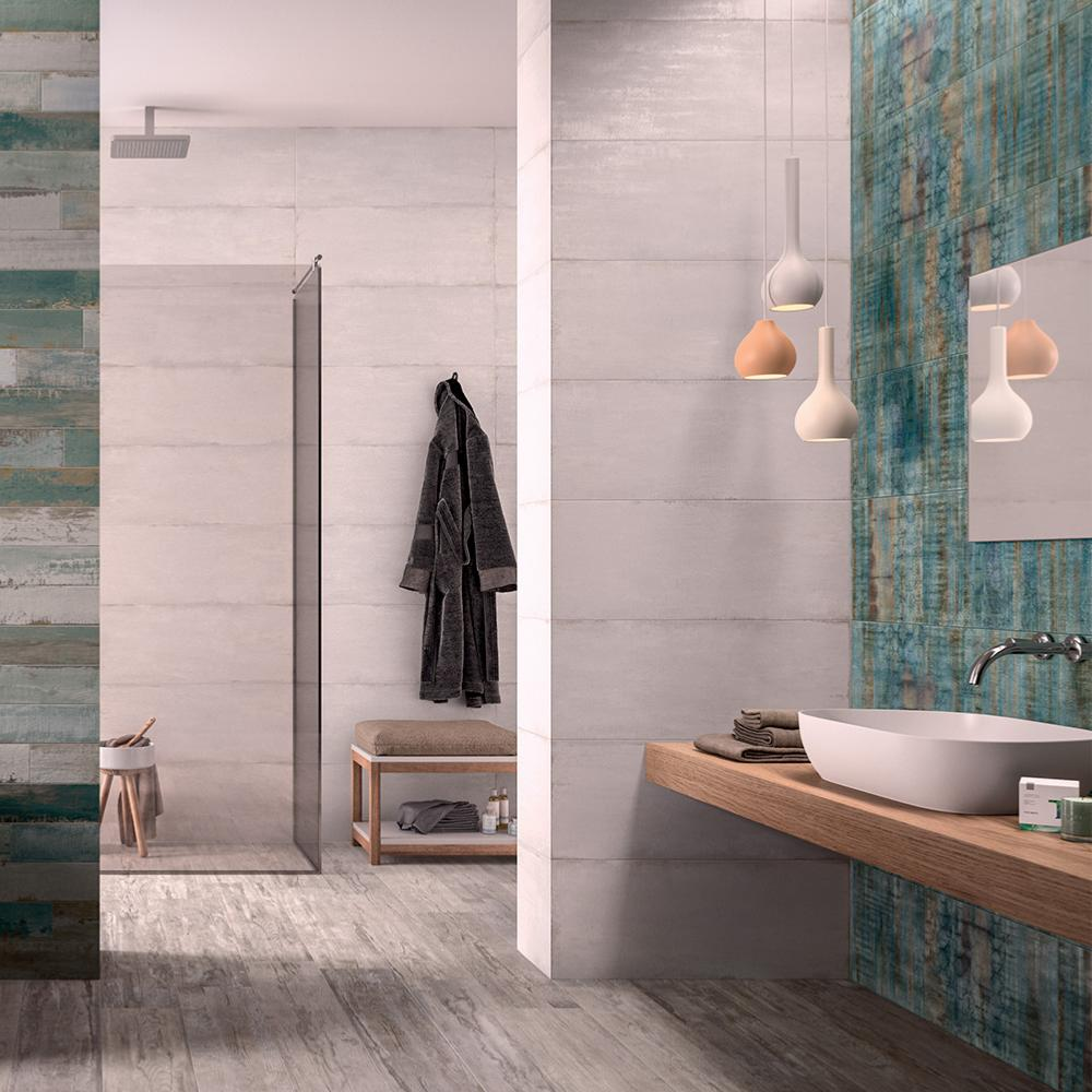 carrelage faience salle de bain 32x80 5 cement naturel collection flair naxos