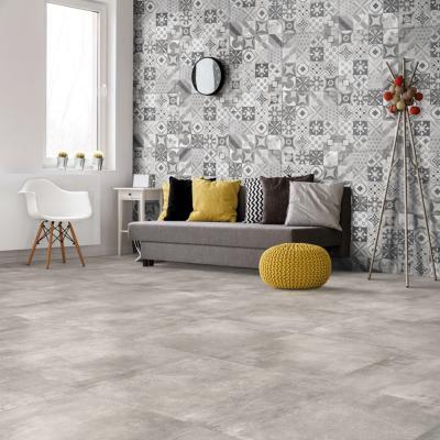 carrelage imitation carreaux de ciment 60x60 cementine grey rect collection volcano rondine