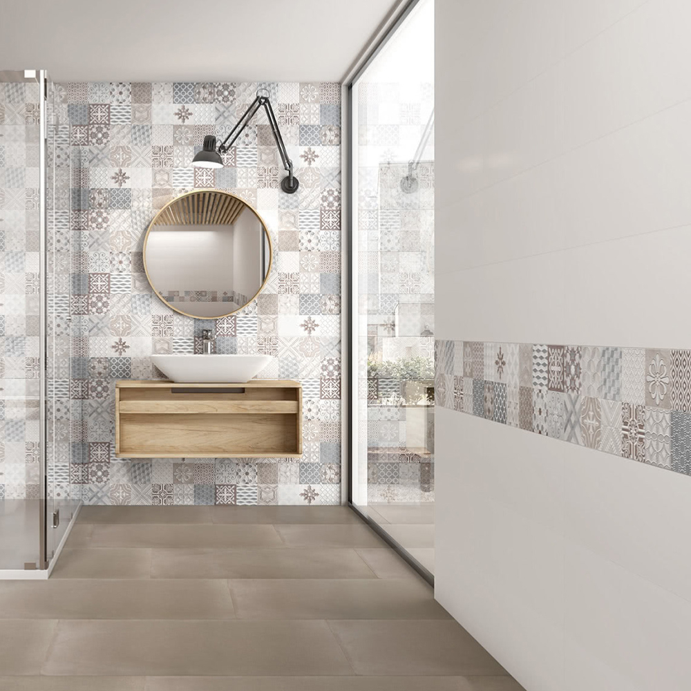 carrelage salle de bains mural