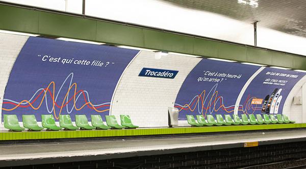 publicité nivea dans le métro