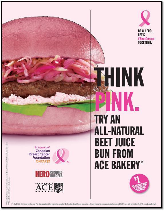 Octobre Rose - Hamburger rose pour aider la recherche contre le cancer du sein