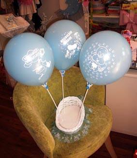 Hoşgeldin Bebek Baskılı Lateks Mavi Balon
