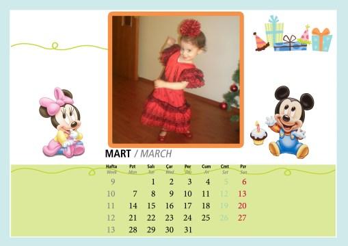 Kızımın 2012 Masa Takvimi 2