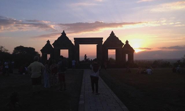 sunset Keraton Ratu Boko