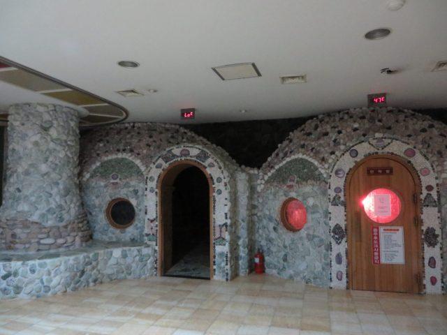 Sauna de uma jjimjilbangs que dormimos na Coreia do Sul