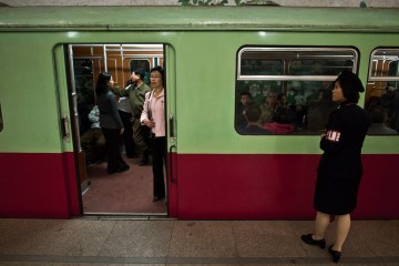 The metro in North Korea