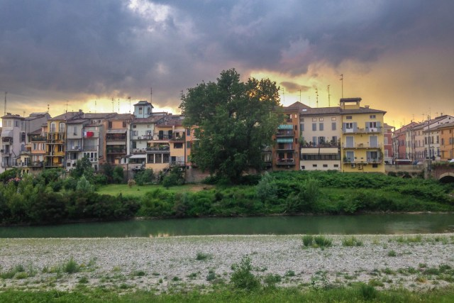 Oltretorrente in Parma by the river