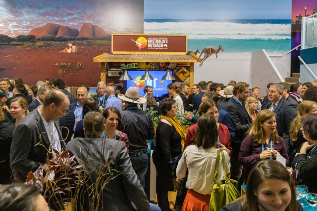 The Australian stand during ITB 2017, the event that introduced us to the idea of a cycling trip in Slovenia