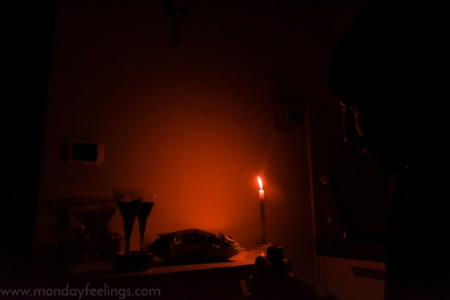 living without electricity during our first days in Italy