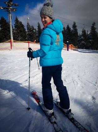 fernanda on ski