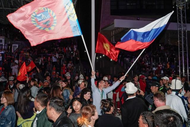 festa nos Jogos mundiais nômades