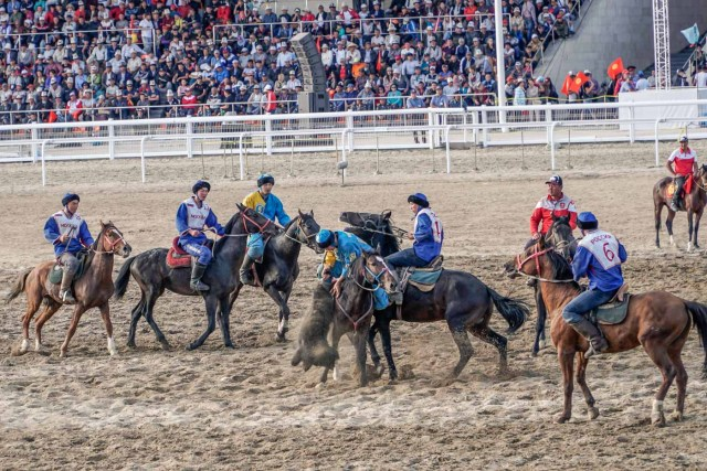 Kok Boru match between Russia and Kazakhstan at the world nomad games