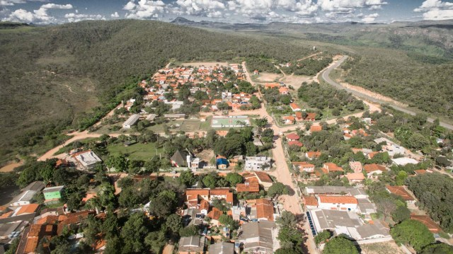 Aerial shot of entrance of Sao Jorge