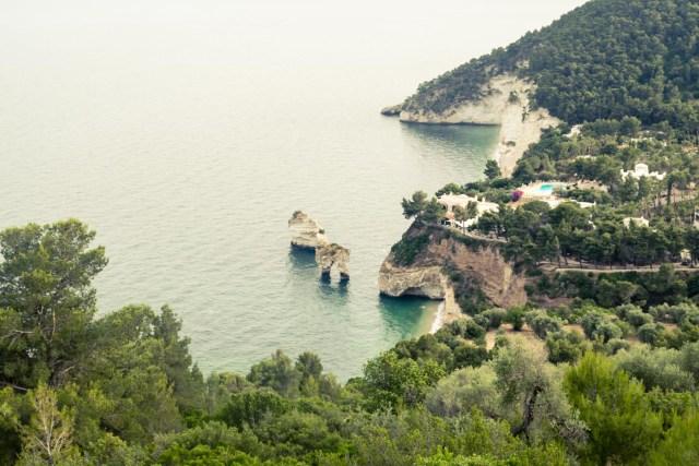 The arch rock formation in Matinatta, Puglia