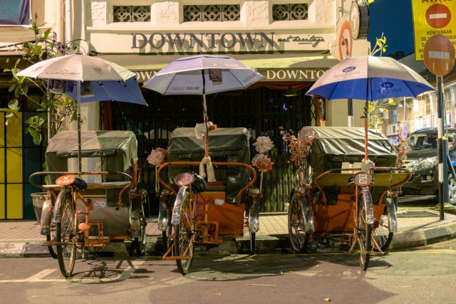 tuktuk rickshaw in penang malaysia