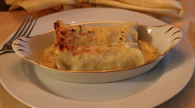 Spanish Seafood Caneloni