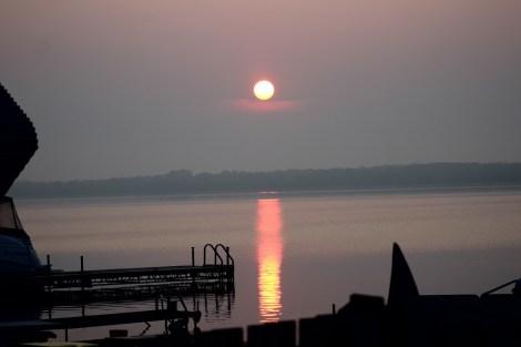Sunrise on lake Couchiching