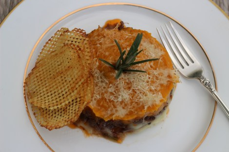 Hachis Parmentier with Waffle fries