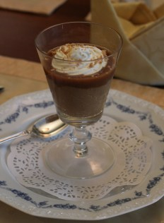 Caramel Budino with salted caramel sauce and Chantilly cream