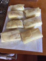 potato wrapped sea bass