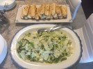 Grilled Caesar Salad with Rosemary bread sticks
