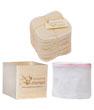 Kit Eco belle  + 20 carrés démaquillants lavables Bambou écru + filet + boite en Les Tendances D Emma