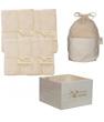 Kit Eco Chou Bambou couleur: 10 carrés bébé + 10 gants de change +1 boîte +1 filet en Les Tendances D Emma