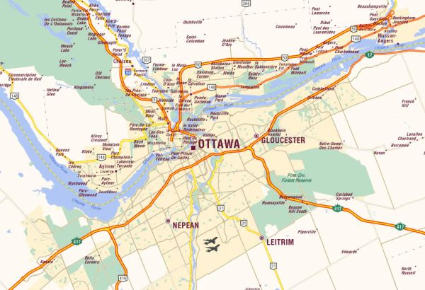 Ottawa Carte et Image Satellite