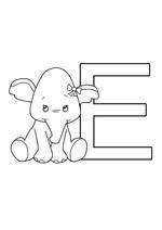 Coloriage de l'alphabet à imprimer la lettre e