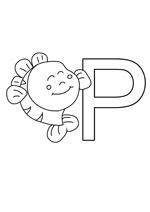 Coloriage rigolo pour apprendre les lettres de l 'alphabet