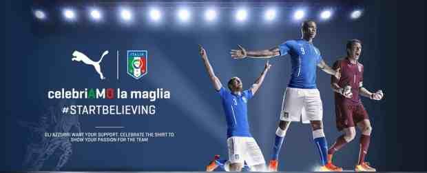 Puma propose de célébrer la sortie du maillot italien sur son site Internet